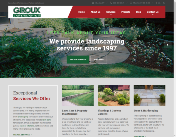 Web Design for Giroux Landscaping